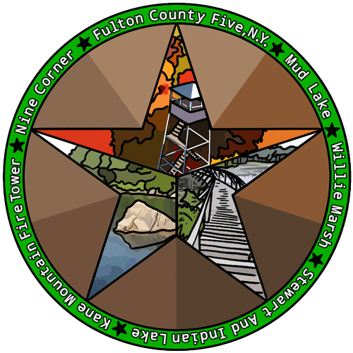 Fulton County 5 Hiking Challenge Patch