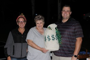 (l to r): Raffle Winners split $11,000, Kelsy Wasson, Rhonda Wilder, and Rich Smith