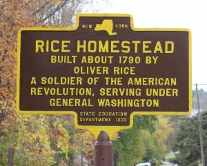 Rice Homestead Marker