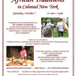 African Traditions in Colonial New York at Johnson Hall