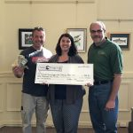 "(l to r) Walleye Challenge Co-coordinator, Lou Stutzke of Fuel-N-Food, Gina DaBiere-Gibbs, Director of Tourism, and Great Sacandaga Lake Fisheries Federation (GSLFF) President, Randy Gardinier.  Missing from photo: Walleye Challenge Co-coordinator, Hank ""Beaver"" Ross"