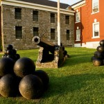 Canon and canon balls in a fort