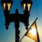 Close up of a street lamp