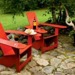 Adirondack chairs with snacks and drinks