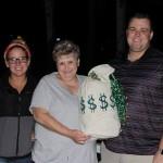 (l to r): Raffle Winners split $11,000, Kelsy Wasson, Rhonda Wilder, and Rich Smith
